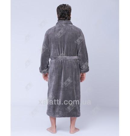 Халат мужской махровый софт Kardelen Ekehome серый