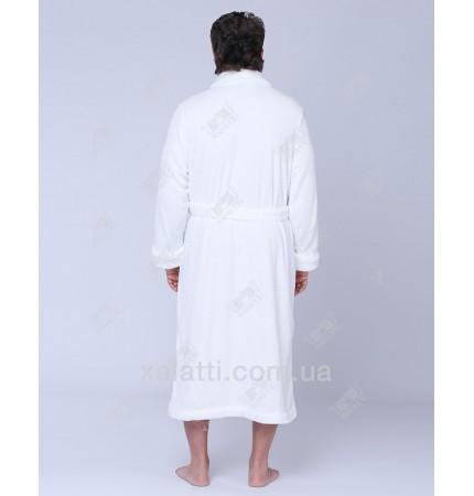 Халат мужской махровый софт Kardelen Ekehome белый