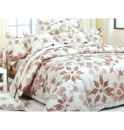 """Комплект постельного белья евро бамбук """"Уютный вечер"""""""