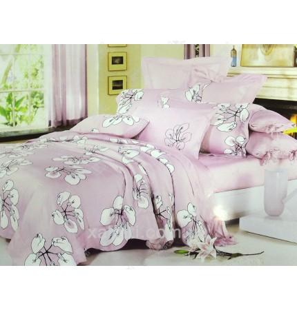 """Комплект постельного белья евро бамбук """"Розовая мечта"""""""