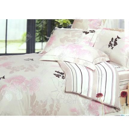 """Комплект постельного белья евро бамбук """"Утренняя дымка"""""""