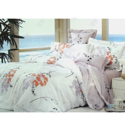 """Комплект постельного белья евро бамбук """"Теплый цветок"""""""