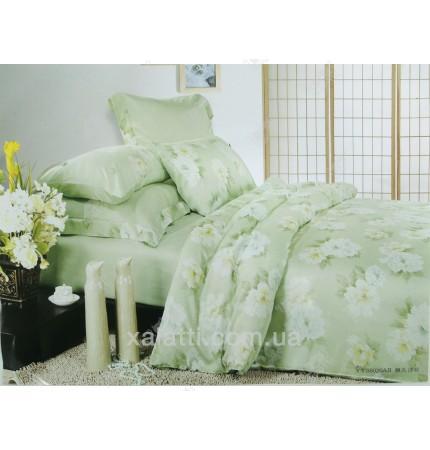 """Комплект постельного белья евро бамбук """"Яблоневый цвет"""""""