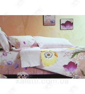 """Комплект постельного белья евро сатин """"Цветочное панно"""""""