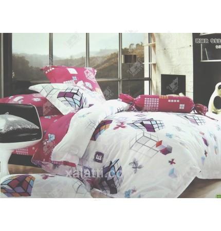 """Комплект постельного белья евро сатин """"Кубики"""""""