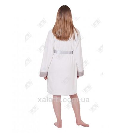 Халат женский короткий Anna Christina белый