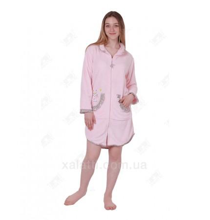 "купить халат женский короткий 44-48 Anna Christina ""Зайчик"" на молнии"