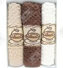 """Набор махровых полотенец 3 штуки """"Кофе"""" Vevien хлопок"""