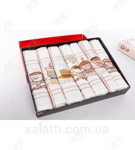 """Набор полотенец вафельных 7 штук """"Неделька-1"""" хлопок"""