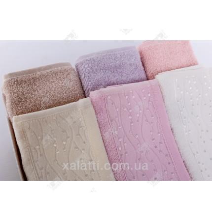 Набор махровых полотенец 6 штук Softkiss