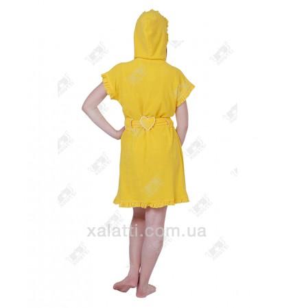 Халат женский легкая махра желтый J-Fashion