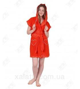 Халат женский легкая махра коралл J-Fashion