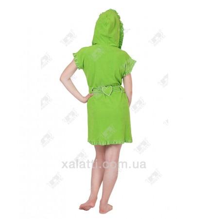 Халат женский легкая махра салатовый J-Fashion