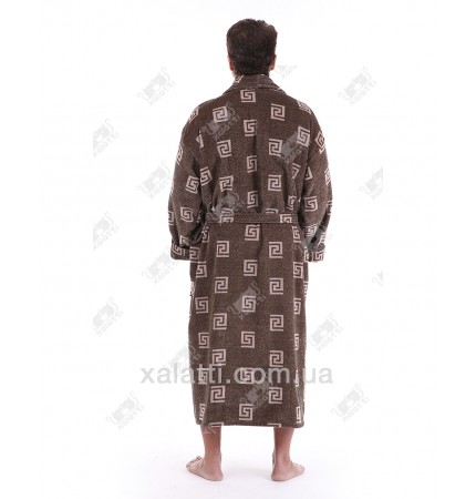 Халат мужской махровый Chereskin коричневый