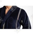 Халат мужской махровый Chereskin синий Versace