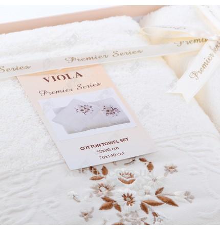 Набор полотенец махровых Viola Karna кремовый