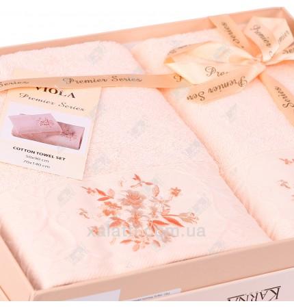 Набор полотенец махровых Viola Karna персиковый