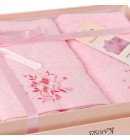 купить набор полотенец махровых Viola Karna розовый