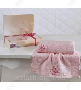 Набор полотенец махровых Viola Karna розовый