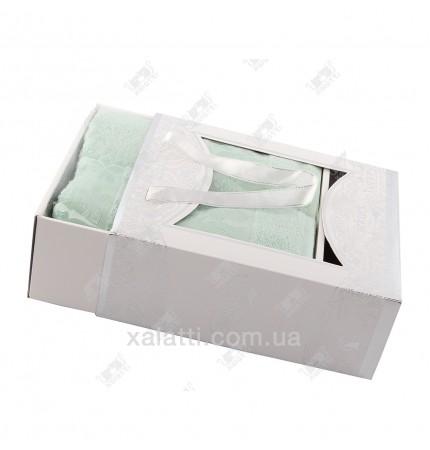Набор полотенец махровых бамбук Ozkurt зеленый