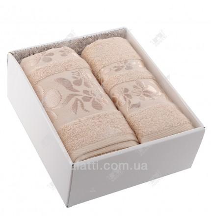 Набор полотенец махровых бамбук Ozkurt кофе