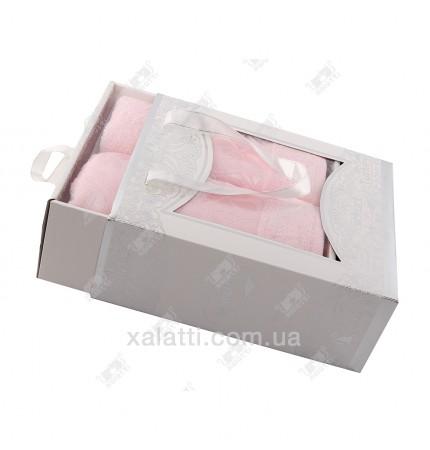 Набор полотенец махровых бамбук Ozkurt розовый