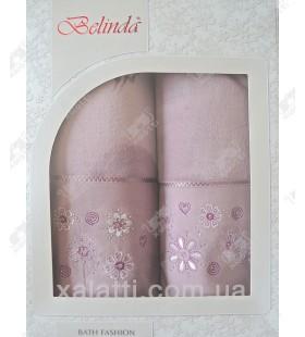 Набор полотенец махровый хлопок Belinda серо-сиреневый