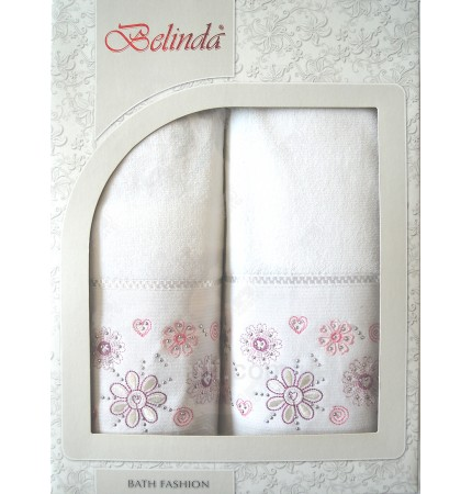 Набор полотенец махровый хлопок Belinda белый