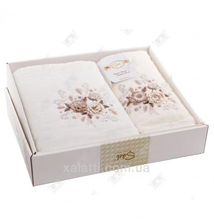 Набор полотенец махровых бамбук Sikel крем