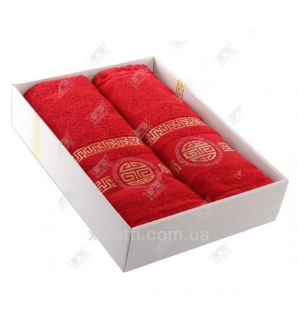 Набор полотенец махровый хлопок Turkiz красный