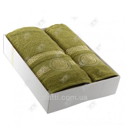 набор полотенец махровый хлопок Turkiz зеленый