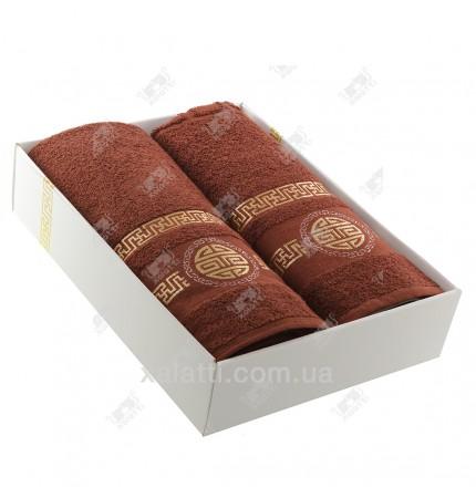 Набор полотенец махровый хлопок Turkiz шоколад