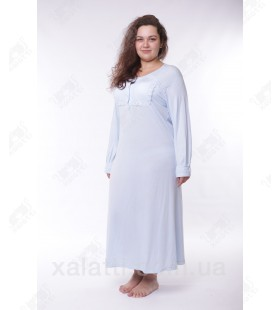 Женская ночная сорочка трикотажная Artis к.1632 голубая