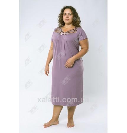 Женская трикотажная сорочка сиреневый Carolina