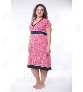 Женская трикотажная сорочка 52-56 малиновая Miss Victoria к.11376