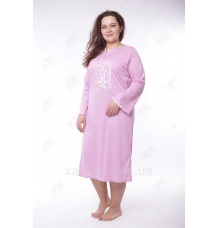 Женская ночная сорочка 52-58 Leyla сирень