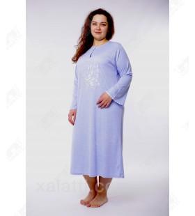 Женская ночная сорочка 52-58 Leyla голубая