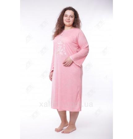Женская ночная сорочка 52-58 Leyla розовая