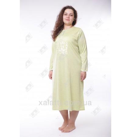 Женская ночная сорочка 52-58 Leyla зеленая