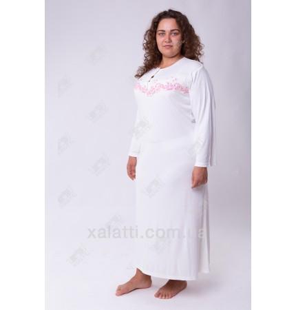 Гарнитур: ночная и халат трикотаж 50-58 крем Сирия к.249