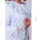 Гарнитур: ночная и халат трикотаж 50-52 голубой Сирия к.249
