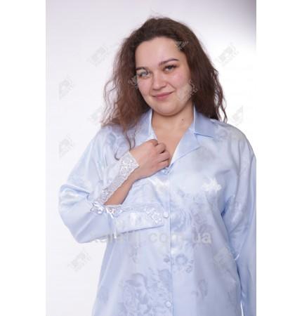 Пижама женская шелк 54-56 Janni голубая