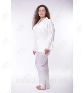 Пижама женская шелк 54-56 Janni белая