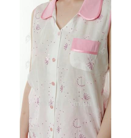 Пижама женская батист 48-52 розовая Marilyn