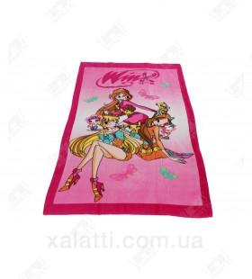 Детское махровое полотенце 75*150 хлопок Winx
