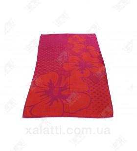 Полотенце пляжное 70*150 хлопок Ozdilek красное