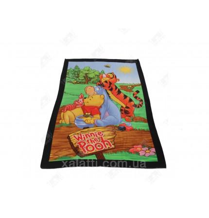 Детское махровое полотенце 75*150 хлопок Винни Пух2