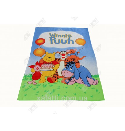 Детское махровое полотенце 75*150 хлопок Винни Пух 3