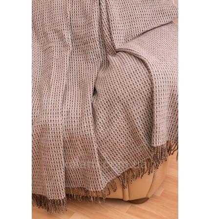 плед 170*200 100% шерсть Vladi Dolce Vita коричневый