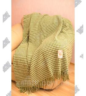 Плед 140*200 новозеландская шерсть Ярослав букле зеленый